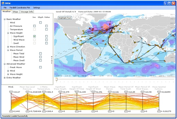 Geovisual Analytics applied to Weather and Ship Data
